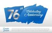 76  years  anniversary decorative background