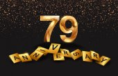 79  years  golden  anniversary decorative background