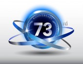 73  years blue and white  anniversary decorative background