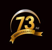 73  years golden  anniversary decorative background