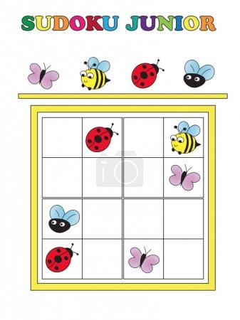 Photo pour Jeu pour enfants : sudoku game junior - image libre de droit