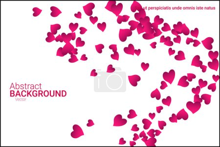 Illustration for Festive decoration in the form of hearts confetti on the background. Valentine's gift. Banner, poster template. Love vector pattern. Colorful vector background for valentines day. - Royalty Free Image