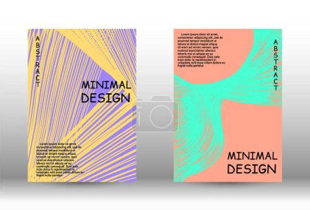 Illustration for Minimal vector coverage. Abstract cover with the effect of movement and distortion. Trendy geometric patterns. EPS10 Vector Design. - Royalty Free Image