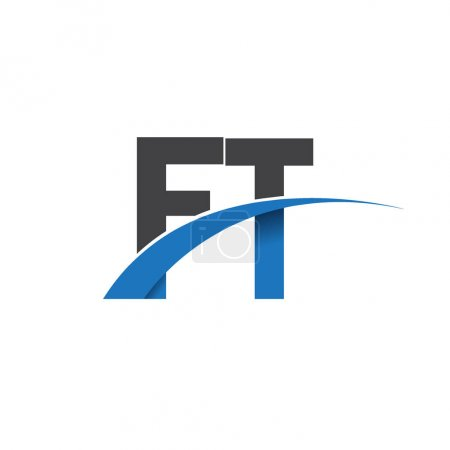 Illustration pour Ft lettres logo, identité initiale du logo pour votre entreprise et votre entreprise - image libre de droit