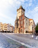 Old Town City Hall in Prague, view from Square.