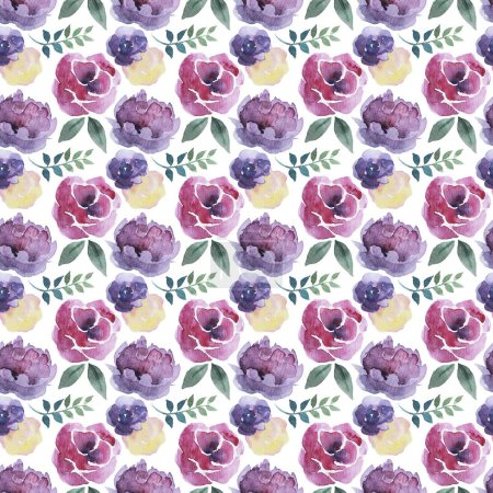 Watercolor Seamless Floral Background Pattern