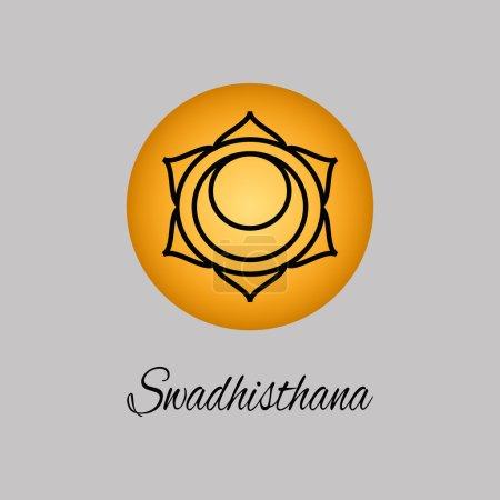 Swadhisthana.Sacral Chakra. The symbol of the second human chakr