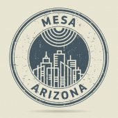 Grunge rubber stamp or label with text Mesa Arizona