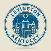 Grunge rubber stamp or label with text Lexington Kentucky