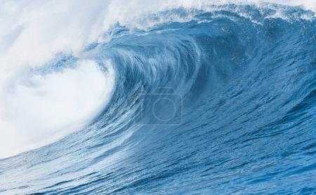 Blue Ocean Wave background close up