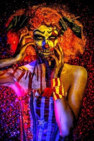 clown murderer. Halloween. Horror.