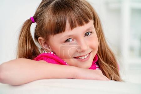 smiling girl portrait