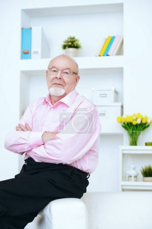 positive elderly man