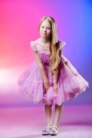 girl in fluffy dress
