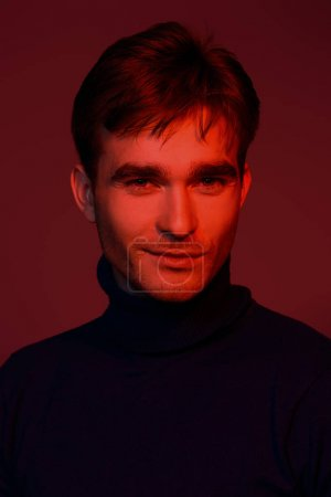 portrait in red light