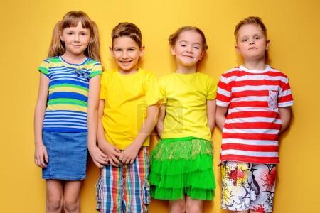 children in summer clothes