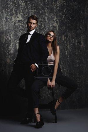 gorgeous fashionable couple