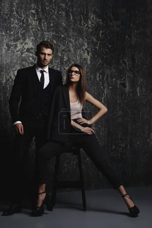 gorgeous fashion couple
