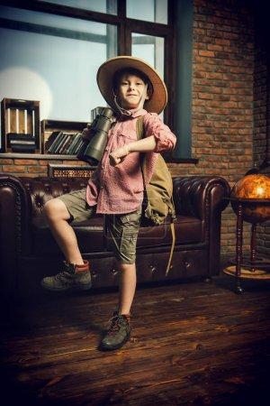 boy playing in traveler