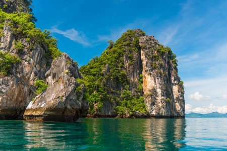 stunningly beautiful scenery of the islands of Thailand in the p