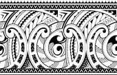 Seamless ethnic tribal ornament