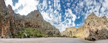 Wide view of mountains in Spain