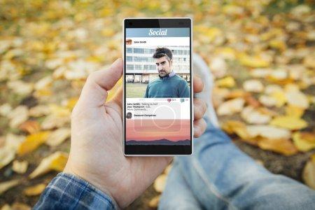 Smartphone avec réseau social
