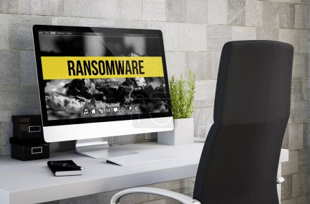 ransomware on computer screen