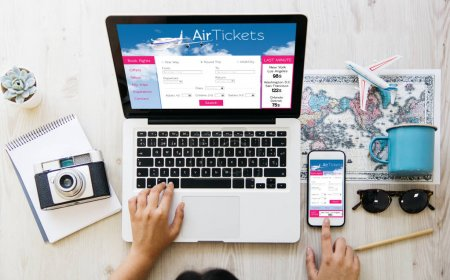 woman looking for  air tickets