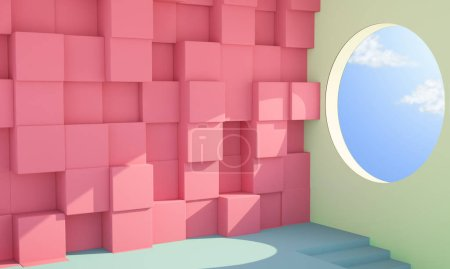 Photo for Minimal abstract interior 3d rendering - Royalty Free Image