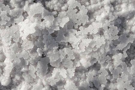 salt flakes crystals background