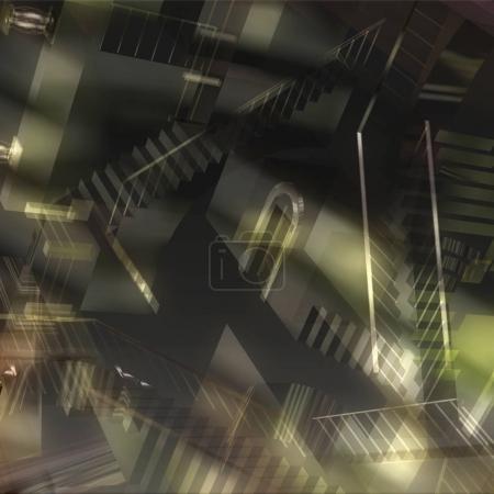 Photo pour 3D illustration d'une Illusion d'intérieur - image libre de droit