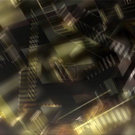 Photo pour Illustration 3D d'une illusion intérieure - image libre de droit