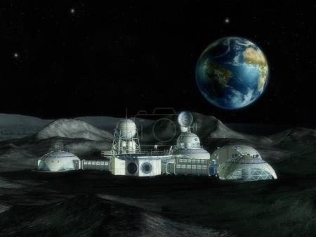 3D Illustration of Space Station...