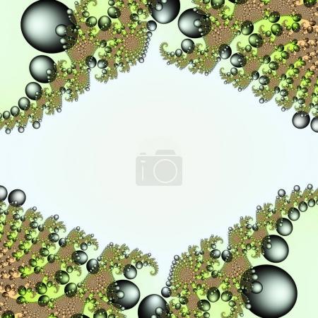Digital visualization of fractal background