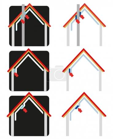Insulation with vapor barrier set