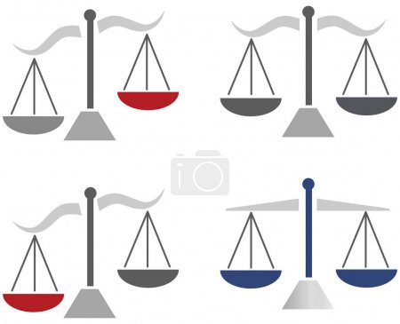 Wages as a symbol for law and order color theme illustration