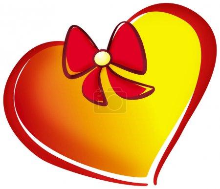 Heart color theme illustration