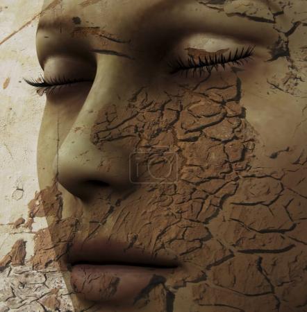 Photo pour Illustration 3D numérique de femme séduisante - image libre de droit