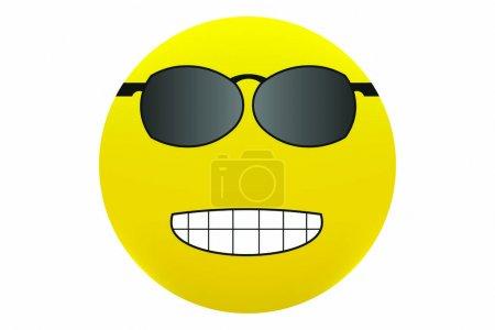 Smile with Sun glasses illustration