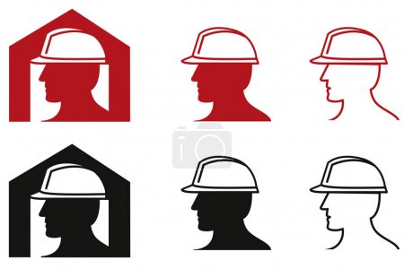 Icon Safety at work color theme illustration