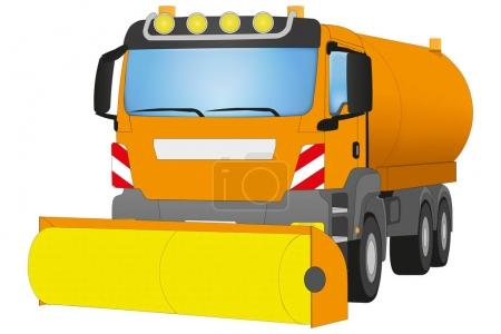 Street Sweeper on white background