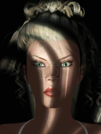 Digital 3D Illustration of attractive woman