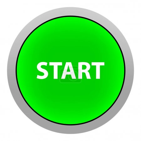 Start Button Isolated on white Background