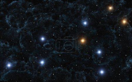 photo of Zodiac Sign Leo in dark sky