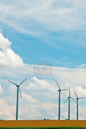 Wind Wheels In Germany. alternative energy concept