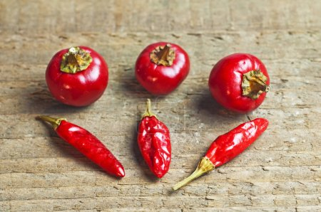 close-up of spicy Red Chili peppers