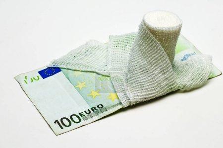 close-up photo of Euro money on background