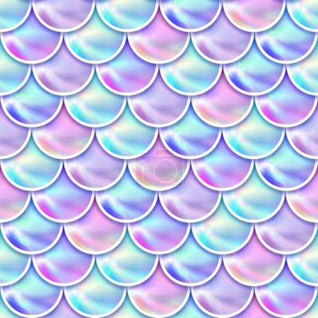 Holographische Meerjungfrau skaliert Hintergrund.