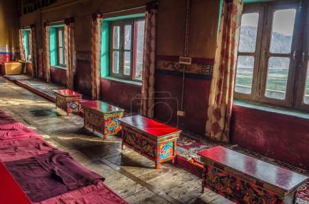 Main prayer hall of Diskit Monastery, Himalayan Mountains, Ladak